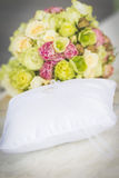 Bouquet And Wedding Pillow Royalty Free Stock Images
