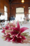 Bouquet at wedding reception Royalty Free Stock Photos