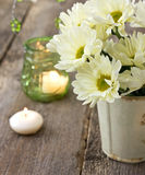 Bouquet of white chrysanthemums Royalty Free Stock Photography