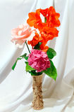 Bouquet on white cloth background Royalty Free Stock Photography