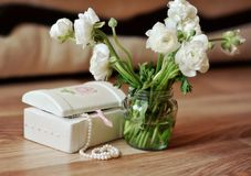 Bouquet of white colors Royalty Free Stock Images