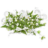Bouquet with white flowers Stock Photos