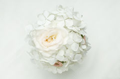 Bouquet of white flowers. On white background Stock Image