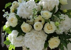 Bouquet of white flowers stock photography