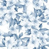 Bouquet of white flowers. Watercolor floral background. Seamless pattern 12. Watercolor floral background. Seamless pattern Royalty Free Stock Photos