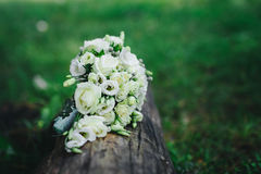Bouquet with white flowers. Wedding bouquet with white flowers Stock Photos