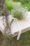 Bouquet of white gypsophila flowers Royalty Free Stock Image