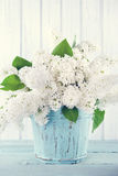 Bouquet of white lilacs Royalty Free Stock Photos