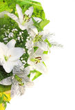 Bouquet with white lilies Stock Photos