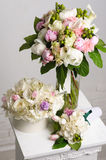 Bouquet of white peonies. Stock Photography