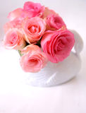Bouquet of white and pink roses Stock Image