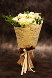 Bouquet of white rose. Royalty Free Stock Photo