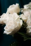 Bouquet of white roses. Under natural light (vertical Stock Photo