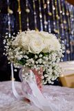 Bouquet of White Roses Stock Photography