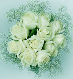 Bouquet of white roses eleven. Toning Stock Images