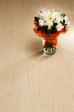 Bouquet of white roses on the floor. Bouquet of white roses on the wooden floor Stock Photo