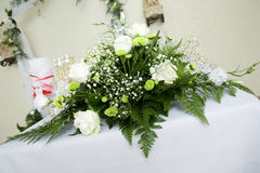 Bouquet of white roses for special occasion Royalty Free Stock Photo