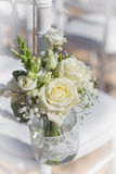 Bouquet of white roses. Royalty Free Stock Photo