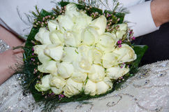 A bouquet of white roses Stock Photo