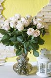 Bouquet of white roses. White roses in a vase Stock Images