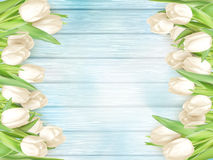Bouquet of white tulips. EPS 10 Royalty Free Stock Photo
