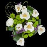 Bouquet of white tulips Stock Photos
