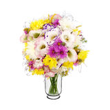 Bouquet of wild flowers in vase Stock Photo