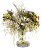 A bouquet of wild flowers and wheat Stock Image