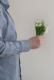 Bouquet of wild snowdrops Royalty Free Stock Photography