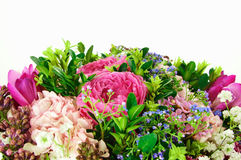Bouquet wit roses and hydrangeas Royalty Free Stock Photos