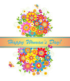 Bouquet for Womens day Royalty Free Stock Image