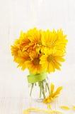 Bouquet of yellow chrysanthemum Royalty Free Stock Photo
