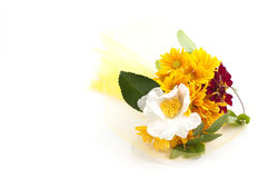 Bouquet of yellow chrysanthemum Royalty Free Stock Images
