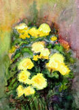 Bouquet of chrysanthemums. Bouquet of the  yellow chrysanthemums Stock Photos