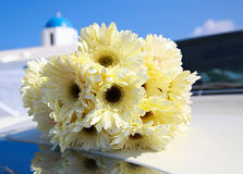 Bouquet of yellow chrysanthemums Royalty Free Stock Photos