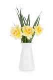 Bouquet of yellow daffodils in flowerpot Stock Photo