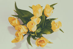 Bouquet with yellow flowe Royalty Free Stock Photography