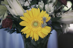 Bouquet with yellow flower Royalty Free Stock Images