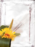 Bouquet with yellow flower. On a rumpled white background Stock Image