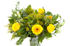Bouquet of yellow flowers stock image