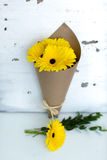 Bouquet of yellow gerber Royalty Free Stock Photography
