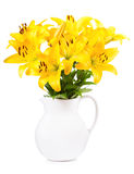 Bouquet of yellow lilies Stock Image