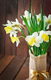 Bouquet of yellow narcissuses Royalty Free Stock Photography