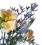 Bouquet of yellow and purple flowers Stock Photos