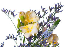 Bouquet of yellow and purple flowers Royalty Free Stock Photo