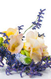 Bouquet of yellow and purple flowers Royalty Free Stock Photos