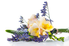 Bouquet of yellow and purple flowers Royalty Free Stock Photography