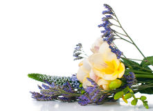 Bouquet of yellow and purple flowers Royalty Free Stock Images
