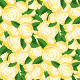 Bouquet of Yellow Roses Random Seamless Pattern Stock Photography