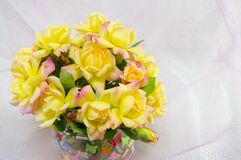 Bouquet of yellow roses Royalty Free Stock Photography